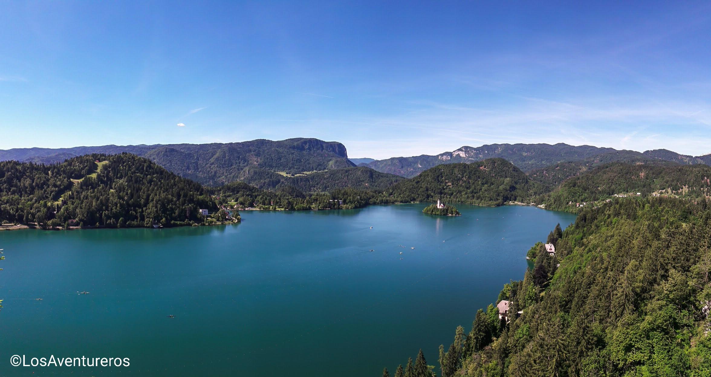 Vista sul lago di Bled dal castello
