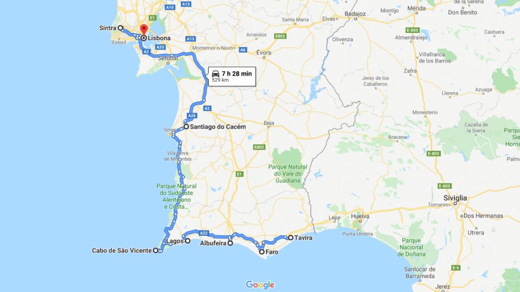 Itinerario Portogallo ON THE ROAD