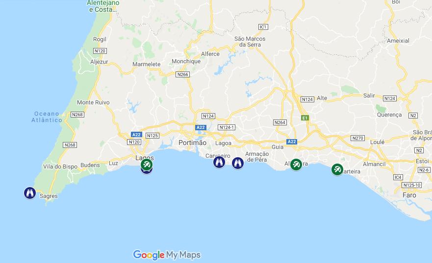 Il nostro itinerario in Algavre