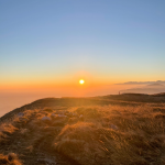 Tramonto panoramico sul Monte Cuarnan